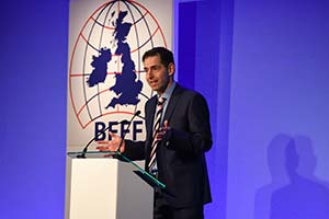 BFFF Chief Exec addressing the BFFF conference