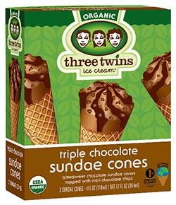 Chocolate Sundae Cone 3pk