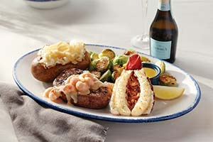 Red Lobster Seafood Lobster seafood topped steak