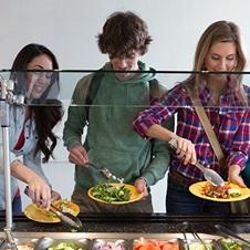 Students at salad bar