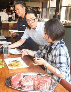 japanese sample us beef steak