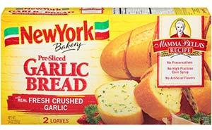 pre sliced garlicbread mammas